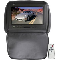 "1961-1977 Alpine A110 Pyle Adjustable Headrest/ Built-In 9"" TFT-LCD Monitor with IR Transmitter (Black Color)"