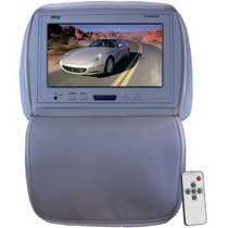 "2003-2008 Nissan 350z Pyle Adjustable Headrest/ Built-In 9"" TFT-LCD Monitor with IR Transmitter (Gray Color)"