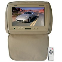 "2003-2008 Nissan 350z Pyle Adjustable Headrest/ Built-In 9"" TFT-LCD Monitor with IR Transmitter (Tan Color)"