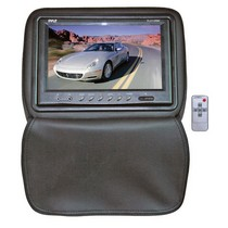 "1998-2003 Toyota Sienna Pyle Adjustable Headrests w/ Built-In 9"" TFT/LCD Monitor W/IR Transmitter & Cover (Black)"