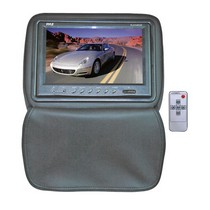 "1998-2003 Toyota Sienna Pyle Adjustable Headrests w/ Built-In 9"" TFT/LCD Monitor W/IR Transmitter & Cover (Gray)"