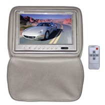 "1998-2003 Toyota Sienna Pyle Adjustable Headrests w/ Built-In 9"" TFT/LCD Monitor W/IR Transmitter & Cover (Tan)"