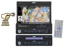 "1988-1996 Ford F250 Pyle 7"" Single DIN In-Dash Motorized Touch Screen TFT/LCD Monitor W/DVD/CD/MP4/USB/SD/AM/FM/RDS/Bluetooth & Screen Dial Pad Built-In GPS/TTS w/USA/Canada & Mexico Maps"