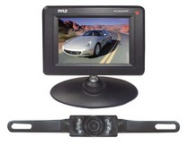 "1964-1972 Chevrolet Chevelle Pyle 3.5"" Monitor Wireless Back-Up Rearview & Night Vision Camera System"