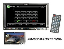 "1968-1969 Ford Torino Pyle 7"" Double Din Detachable TFT Touch Screen DVD/MPEG4/MP3/DIVX/CD-R/USB/SD/AM/FM/RDS With Bluetooth"