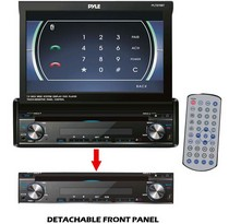"1989-1992 Ford Probe Pyle 7"" Single DIN In-Dash Motorized Touch Screen TFT/LCD Monitor w/ DVD/CD/MP3/MP4/USB/SD/AM-FM/Bluetooth and Screen Dial Pad"