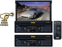 "1988-1996 Ford F250 Pyle 7"" Single DIN In-Dash Motorized Touch Screen TFT/LCD Monitor w/ DVD/CD/MP3/MP4/USB/SD/AM-FM Player"