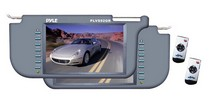 "1998-2005 Mercedes M-class Pyle Pair of 9.2"" TFT/LCD Left & Right Sun Visor Monitor (Grey)"
