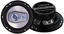 "1971-1976 Chevrolet Caprice Pyramid 6.5"" 400 Watts Three-Way White Injected P.P. Cone Speakers"