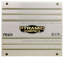 1989-1992 Ford Probe Pyramid 600 Watt 2 Channel Bridgeable MOSFET Amplifier
