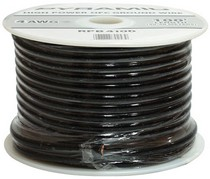 1999-2007 Ford F250 Pyramid 10 Gauge Black Ground Wire 100 ft. OFC