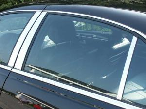 Fits Lincoln Town Car 98-11 Carbon Fiber Door Pillars B-Pillar Trim Covers Post