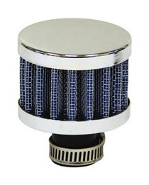 Universal Ractive Mini Blue Cone Filter (Chrome Top & Bottom)