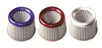"1980-1987 Audi 4000 Ractive 3"" Silver Cotton Filter (Chrome Top & Bottom)"