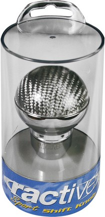 1968-1971 International_Harvester Scout Ractive Round Silver Cabon Shift Knob