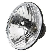 "2003-9999 Honda Pilot Rampage Headlight Assembly - 5 3/4"" Round Conversion - Cast Housing - Clear Glass Lens"