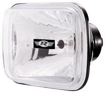 2003-9999 Honda Pilot Rampage Headlight Assembly - 165mm Rectangular Conversion - Cast Housing - Clear Glass Lens
