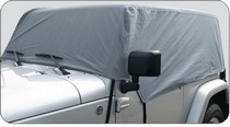 76-91 Jeep CJ7 Rampage Cab Cover - Water Proof - Gray (Fits over Factory Roll Bars without Installed Soft Top)