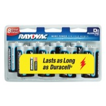 1967-1970 Pontiac Executive Rayovac 8 Pack Rayovac Alkaline D Cell Batteries
