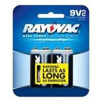 1967-1970 Pontiac Executive Rayovac 9V Alkaline Battery - 2 pack