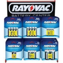 2002-2002 Lincoln Blackwood Rayovac Alkaline Battery Assortment Wire Counter Display