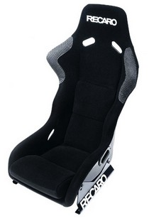 1993-1998 Volkswagen Golf Recaro Profi SPG Racing Seat XL - 3/4/5/6 Point Belt - Velour Black Bolster - Velour Black Insert Material - White Logo (Driver or Passenger)