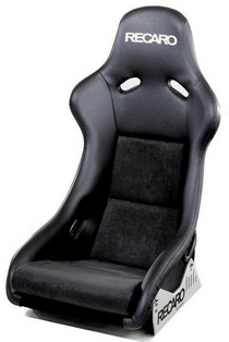 1995-1999 BMW M3 Recaro Pole Position Racing Seat - Leather Black Bolster - Leather Black Insert Material - Silver Logo (Driver or Passenger)