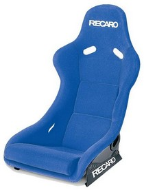 1995-1999 BMW M3 Recaro Pole Position Racing Seat - Velour Blue Bolster - Velour Blue Insert Material - Black Logo (Driver or Passenger)