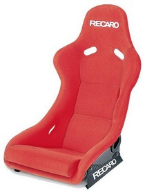 1995-1999 BMW M3 Recaro Pole Position Racing Seat - Velour Red Bolster - Velour Red Insert Material - Black Logo (Driver or Passenger)