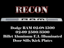 Dodge Ram LED Door Sill Plates Lighted Illuminated For 1500,2500,3500 By RECON