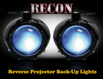 All Jeeps (Universal), All Trucks and SUVs Recon Rear Mounted 2-Piece Universal Projector Reverse Light Kit with 110 Watts of Xenon Super White Light