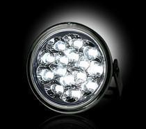 1996-1998 Suzuki X-90 Recon LED Daytime Running Lights w White LEDs & Round Shaped Housing - CLEAR LENS