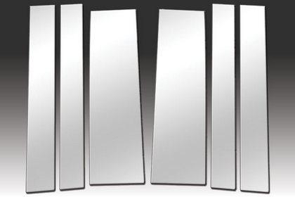 STAINLESS STEEL CHROME PILLARS FOR CHRYSLER TOWN /& COUNTRY 2008-2016 6 PCS