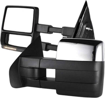 May Not Fit Some After Market Mirrors Restyling Factory Chrome Full Towing Mirror Cover for 09-14 Ford F150 09 10 11 12 13 14