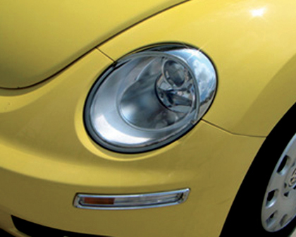 06 10 Volkswagen New Beetle Restyling Ideas Head Light Bezel Abs Chrome