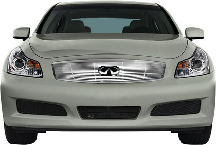 Fits 07-08 Infiniti G35 Sedan Bumper Stainless Steel Billet Grille Insert