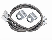 87-95 Jeep Wrangler Rubicon Express Stainless Steel Brake Line Set - Front 28