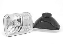 1986-1992 Mazda RX7 Rugged Ridge Crystal H2 Headlights - Rectangular (Includes Bulbs)