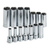 "2002-2005 Honda Civic_SI S K Hand Tools 14 Piece 3/8"" Drive 6 Point Metric Deep Socket Set"