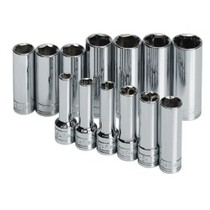 "2005-2010 Scion TC S K Hand Tools 13 Piece 3/8"" Drive 6 Point Metric Deep and Extra Deep Socket Set"
