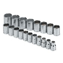 "2005-2010 Scion TC S K Hand Tools 19 Piece 1/2"" Drive 12 Point Metric Standard Socket Set"