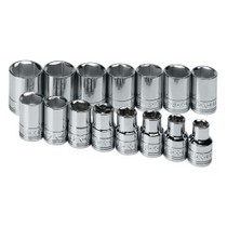 "2002-2005 Honda Civic_SI S K Hand Tools 15 Piece 1/2"" Drive 6 Point Standard Metric Socket Set"