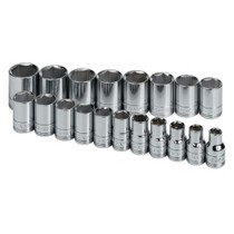 "2005-2010 Scion TC S K Hand Tools 19 Piece 1/2"" Drive 6 Point Metric Standard Socket Set"