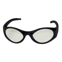 1963-1967 Chevrolet Corvette SAS Safety Stingers High Impact Safety Glasses - Black Frames/Clear Lens
