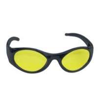 1963-1967 Chevrolet Corvette SAS Safety Stingers High Impact Safety Glasses - Black Frames/Yellow Lens