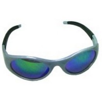 1953-1962 Chevrolet Corvette SAS Safety Stingers High Impact Safety Glasses - Silver Frames/Blue Mirrored Lens
