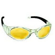 1953-1962 Chevrolet Corvette SAS Safety Stingers High Impact Safety Glasses - Clear Frames/Yellow Lens