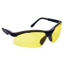 2004-2007 Ford Freestar SAS Safety Sidewinders Safety Glasses - Black Frames/Yellow Lens