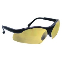 2004-2007 Ford Freestar SAS Safety Sidewinders Safety Glasses - Black Frames/Gold Mirror Lens