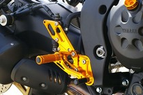06-Up Yamaha FZ1 Sato Racing Reverse Shift Rear Set - Gold